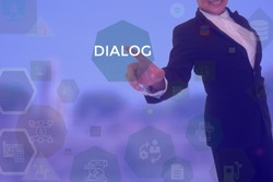 DIALOG - technology and business concept