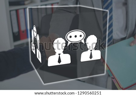 Dialogue concept illustrated by a picture on background #1290560251
