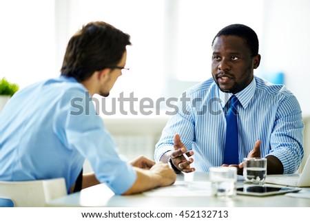 Dialogue of businessmen #452132713