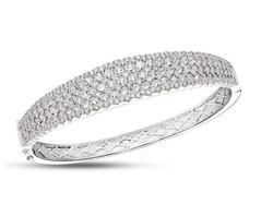 diamond bangle white Background