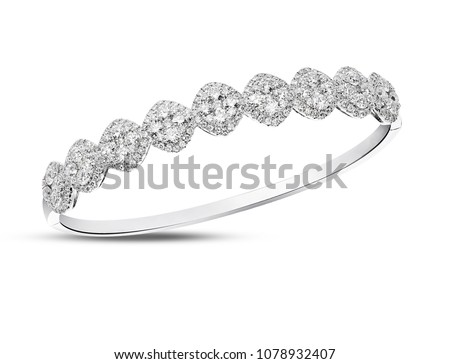 Diamond bracelet bangle - Shutterstock ID 1078932407