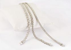 Diamond bracelets on white background
