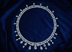 Diamond Choker Necklace of Carter Large Stones