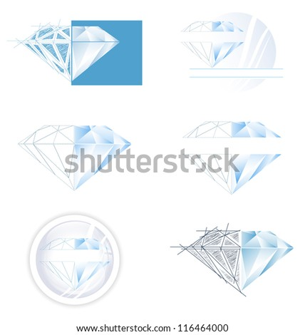 Diamond Collection: Set of Different Diamond Illustration Designs