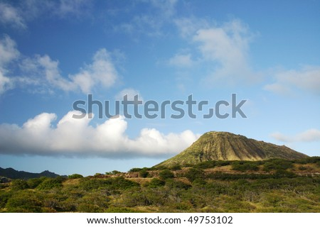 Diamond Head volcano, Oahu, Hawaii