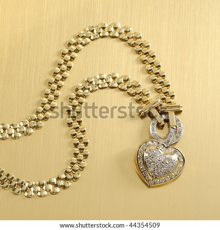 Heavy Gold Chain Necklace on Heavy Gold Chain on