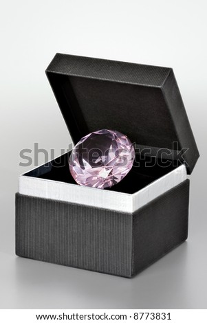 Diamond in a gift box