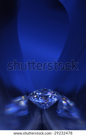 Diamond in blue light