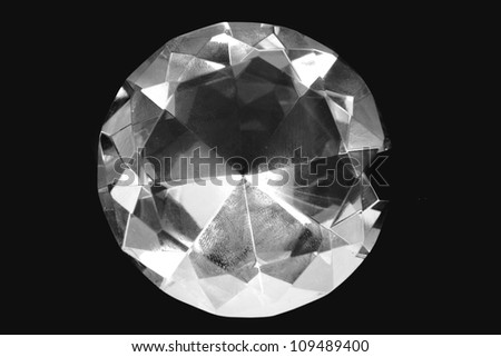 diamond isolated on the black background
