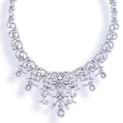 Diamond necklace jewelry on background