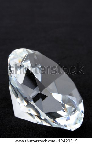 Diamond on black with top copy space