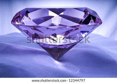 Diamond or Amethyst on Satin.
