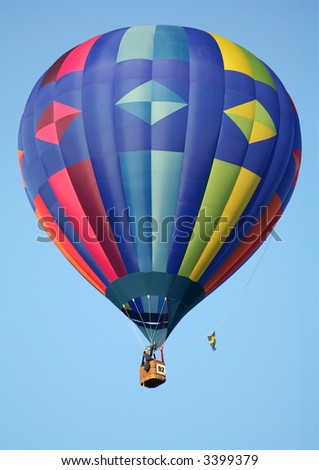 Diamond Pattern Hot Air Balloon - stock photo