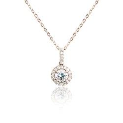 Diamond pendant isolated on white