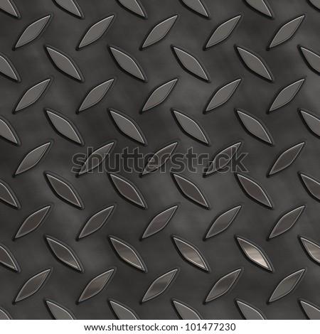 diamond plate background - stock photo