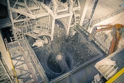 Diamond processing plant crusher where kimberlite is crashed to recover diamonds, Botswana