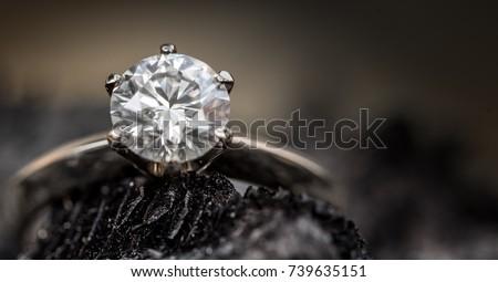 Diamond ring Foto stock ©