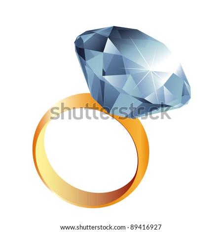 Diamond ring illustration - raster version