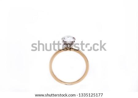 Diamond Ring Isolated on White Background #1335125177