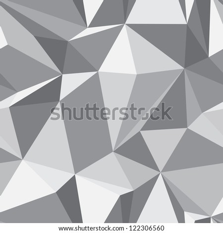 Diamond shape seamless pattern - abstract polygon geometric mosaic texture