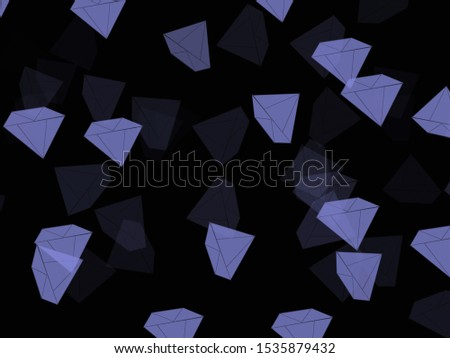 Diamond shaped images, cartoon images, background images Black tone background