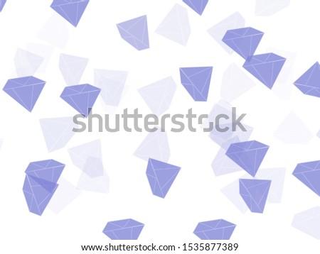 Diamond shaped images, cartoon images, background images Bright white background