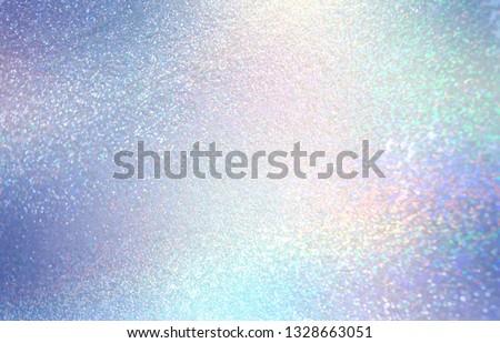 Diamond shimmer texture. Glitter blue pink gradient pattern. Festive sparkles abstract background. Iridescent brilliance surface.