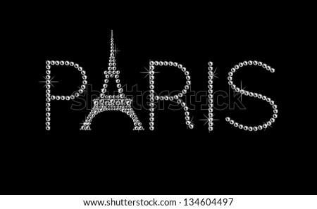 Eiffel Tower Black And White Background With Eiffel Tower on Black