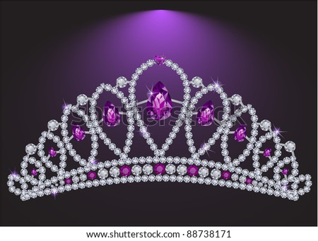 Diamond tiara - raster version