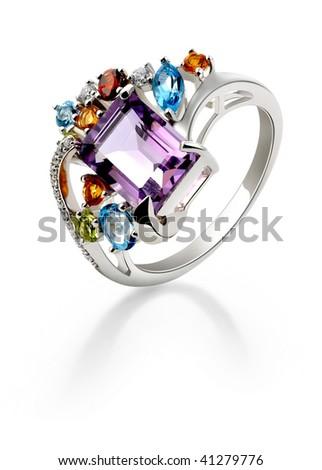 Diamond wide ring