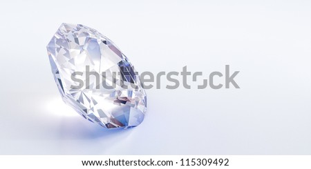 diamond with isolated background, luxury or valuable concepts.