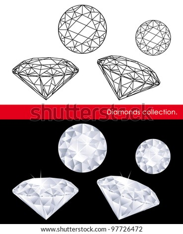 Diamonds collection. Gems and geometry.