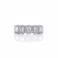 Diamonds  Eternity Band Ring  white gold on white background