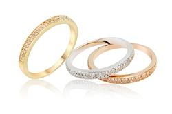 Diamonds Wedding Eternity Band Ring  group on white isolate