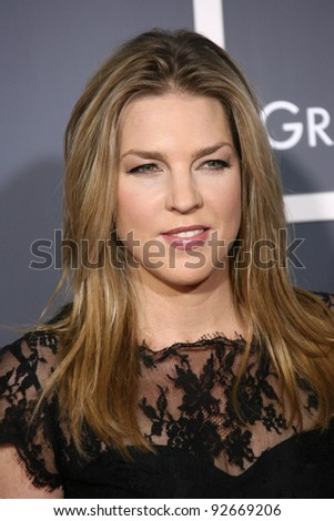 Diana Krall at the 53rd Annual Grammy Awards, Staples Center, Los Angeles, CA. 02-13-11 - stock photo