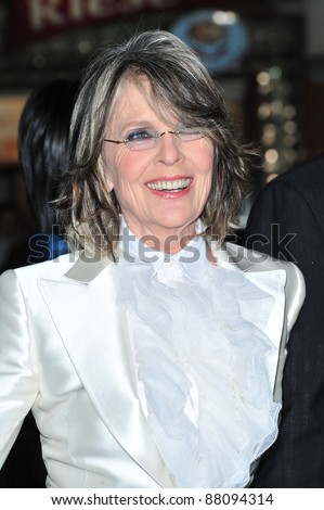 "Diane Keaton at the Los Angeles premiere of her new movie ""Mad Money"" at the Mann Village Theatre, Westwood. January 9, 2008  Los Angeles, CA Picture: Paul Smith / Featureflash - stock photo"