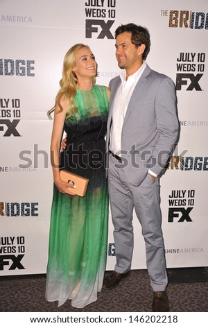 "Diane Kruger & Joshua Jackson at the premiere for her new FX TV series ""The Bridge"" at the Directors Guild Theatre, West Hollywood. July 8, 2013  Los Angeles, CA"