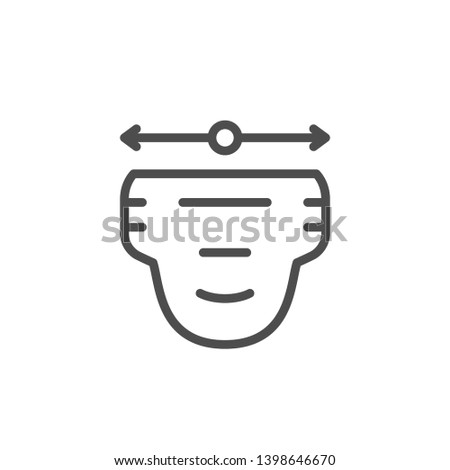 Diaper size line icon isolated on white