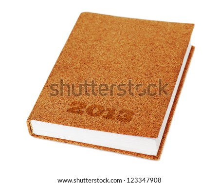 diary book isolate on white background