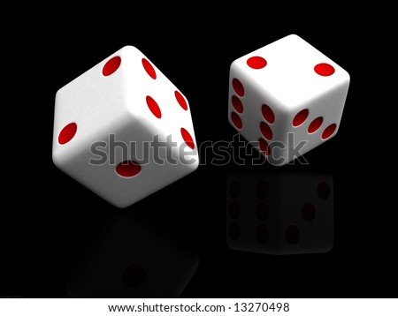 dice against black background - stock photo