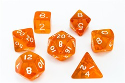 Dice composition orange