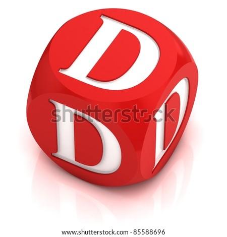 dice font letter  D