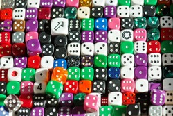 Dice for the game, random number Theory.