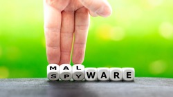 Dice form the words malware and spyware.