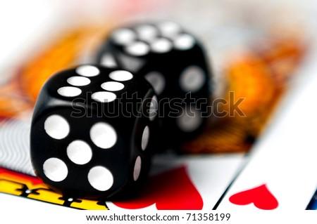 dice on a card