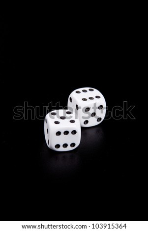 dice on black background