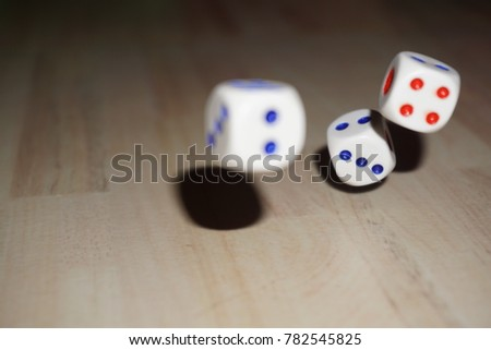 Dice tossed in Air Game #782545825