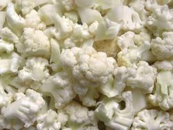 Diced cut white raw Cauliflower florets