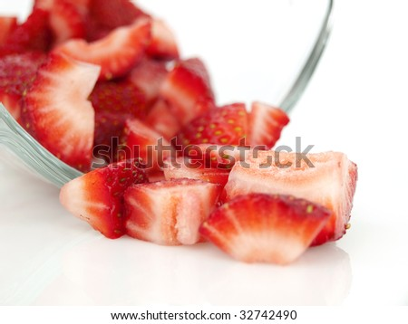 Diced strawberry