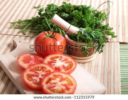 diced tomatoes on a table with a cilantro marinated